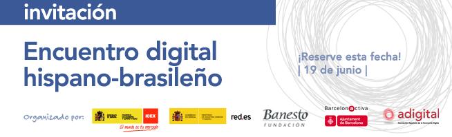 Encontro digital hispano-brasileiro. CONVITE