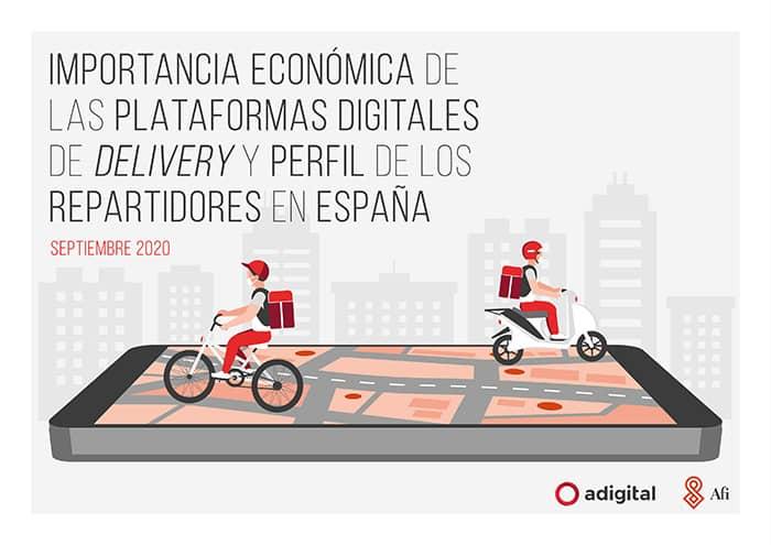 Importancia económica de las plataformas digitales de delivery y perfil de los repartidores en España